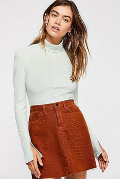 Browse Free People's wide selection of tops for women. Choose from these stylish and comfortable white lace tops, off the shoulder tops, and more! Long Sleeve Turtleneck, Turtleneck Top, Fall Capsule Wardrobe, Fall Skirts, Lace Tops, I Dress, Turtle Neck, Clothes For Women, Sleeves