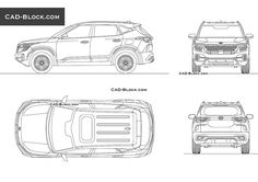 Kia Seltos CAD Block Compact Pickup Trucks, Cad Blocks Free, Chevrolet S 10, Land Cruiser 200, Buick Envision, Paper Car, Volvo S60, Mitsubishi Eclipse, Volvo Cars