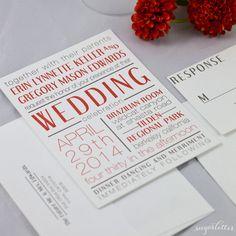 Sample Retro Art Deco Wedding Invitations by ShopSugarletter