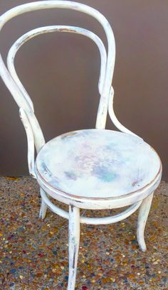 Bentwood Chair reloved with Antibes Green, Henrietta, Paris Grey and Old White Chalk Paint™ by Annie Sloan