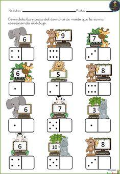 # first class lessons Kindergarten Math Worksheets, Preschool Learning Activities, Teaching Math, Preschool Activities, Kids Learning, Numbers Preschool, First Grade Math, Math For Kids, Math Lessons