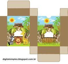 Safari Bebés: Invitaciones y Cajas para Imprimir Gratis.