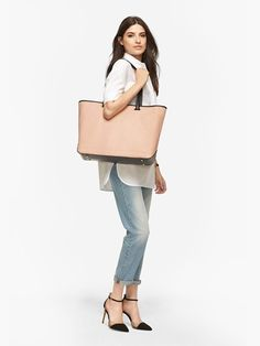 """The Seville Tote 15"""" - 15"""" Laptop Tote With Shell+ Design™ - Designed by Lo & Sons #loandsons"""