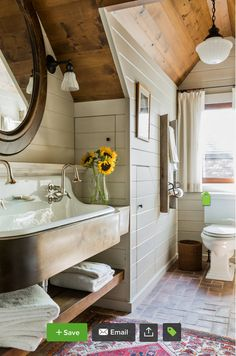 Farmhouse Bathroom Design never walk out designs. Farmhouse Bathroom Design is usually embellished in several methods and eve Bad Inspiration, Bathroom Inspiration, Bathroom Ideas, Bathroom Vanities, Cozy Bathroom, Bathroom Remodeling, Remodeling Ideas, Bathroom Interior, Shiplap Bathroom