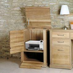 Mobel Solid Oak Printer Cupboard - - Office Desk - Baumhaus - Space & Shape - 3