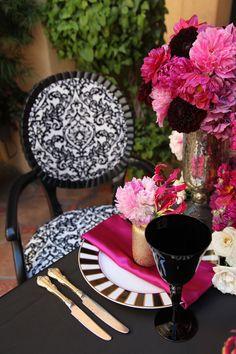 Black + White + Pink Party   Lucie XYZ Photography, Amy Burke Designs via CeremonyBlog.com  (11)