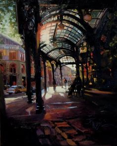 "Robin Weiss -  ""Sunset at Pioneer Square"""