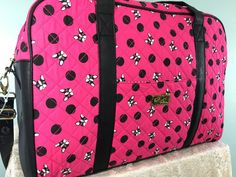 Betsey Johnson Weekender French Bulldog Hot Pink Travel Overnight Duffel Bag NWT #BetseyJohnson #ToteShoulderbagOvernightWeekender