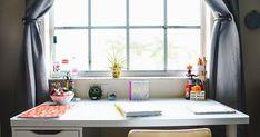 Cozy window desk