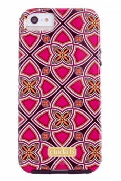 The cinda b Case-Mate Exclusive Collection is as diverse as Cinda's on-the-go lifestyle. Dress your tech with a case that shows off vibrant patterns and geometric styles. The iPhone 6 case has a two-piece Tough case design that keeps your phone even more safe throughout your daily adventures. The bumper is enhanced with metal buttons for a finishing detail and easy touch.   Iphone 6 Case by Cinda B. Accessories - Tech Alabama