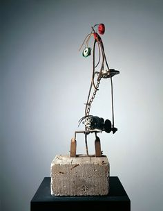 Jean Tinguely: Untitled Baluba 1961Museum Tinguely | Collection Jean Tinguely, Contemporary Sculpture, Modern Contemporary, Jeans And Vans, Coloured Feathers, Kinetic Art, Museum, Everyday Objects, Op Art