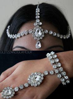 Handmade head chain headpiece head jewellery by glittzzandglamour, $95.00