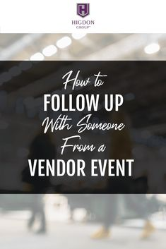 Simple Way To Follow Up With Someone From A Vendor Event. Do you want to recruit people from vendor events? Here is my simple follow up method that works! via @rayhigdon  #networkmarketing #prospecting #teambuilding #entrepreneur #homebusiness #vendorevents