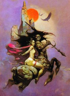 Cap'n's Comics: The Moon Maid by Frank Frazetta
