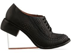 Jeffrey Campbell Upend in Black Wash Clear at Solestruck.com    Floating in heels...
