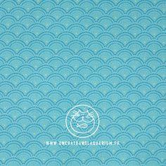 Coton Biologique, Turquoise, Fabrics, Teal