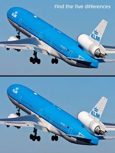Can you spot the five differences? By Pinterest Aviation