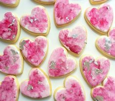 Handpaint hearts. Too cute to eat