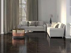 Versilia Black Shiny Ceramic Floor Tile - 430 x Marble Floor, Tile Floor, Black Couches, Mexico House, Feature Tiles, Black Tiles, Black Floor, Living Room Flooring, Classic Style