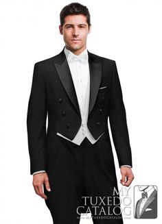 Black Peak Full Dress Tailcoat | Tuxedos & Suits | MyTuxedoCatalog.com