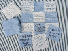 Mashed Potatoes and Crafts: Guest Book Quilt for Wedding Receptions