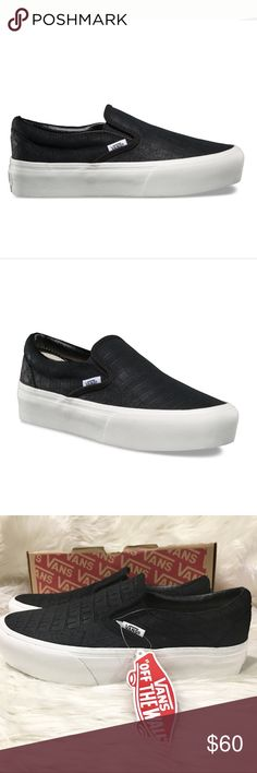 Vans Slip-On platform Embossed Black New with box without Top. These shoes  were 0e50a028f