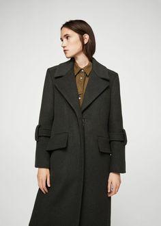 Oversize wool coat - Woman | MANGO Slovakia