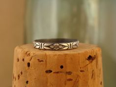 Oxidized Sterling Silver Stack RingDeco by Luckstruck on Etsy