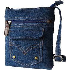 Donalworld Women Mini Denim Cross Body Bag Messenger Shoulder Bag