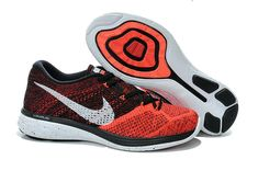 new products 5ba34 e7f6d Men Boy Nike Flyknit Lunar 3 Action Red Silver White Black Cheap Running  Shoes, Cheap
