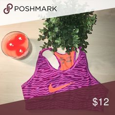 nike sports bra this sports bra is super cute and perfect for a cool workout Nike Other