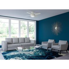 Provide coolness without taking much of ceiling space at your home by installing this Hunter Duncan LED Indoor Fresh White Ceiling Fan with Light. Living Room Modern, Home Living Room, Living Room Designs, Living Room Decor, Small Living, White Ceiling Fan, Ceiling Fans, Flush Mount Ceiling Fan, Paint Colors For Living Room