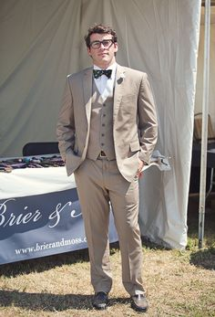 Brier & Moss co-founder, Jonathan Snyder, spotted at Atlanta Steeplechase. Custom suit by Trio Tailoring.  Photo credit: Caroline Fontenot, Back Down South