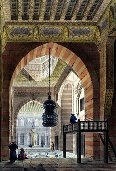 Complex of Sultan Qaytbay BY Pascal Xavier Coste - French, 1787-1879