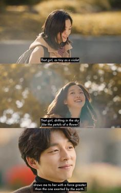 shin's poem when he realized he fell for euntak without knowing it, this drama is so beautiful. Goblin