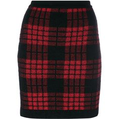Balmain plaid high waist skirt (€775) ❤ liked on Polyvore featuring skirts, short plaid skirt, high waisted knee length skirt, high-waist skirt, tartan plaid skirt and high waist skirt