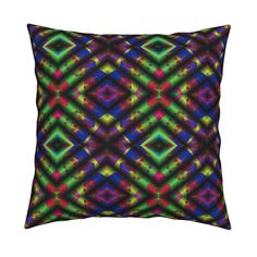 Catalan Throw Pillow featuring CHERRY CAKE FOLDS DIAMOND GEOMETRIC by paysmage | Roostery Home Decor