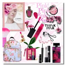 """Think Pink"" by melody-renfro-goldsberry ❤ liked on Polyvore featuring beauty, M.A.C, MAC Cosmetics, Maybelline, Yves Saint Laurent, Estée Lauder, Christian Dior, Bobbi Brown Cosmetics and Elizabeth Arden"