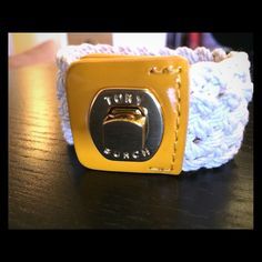 Authentic Tory Burch Bracelet It looks like new and very clean. Color is white and yellow Tory Burch Jewelry Bracelets