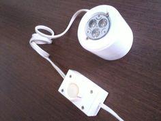 lampara led en laca blanca con dimmer  by chmobiliario