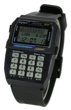 50 Memory Data Bank Calculator Smart Watch - http://www.specialdaysgift.com/50-memory-data-bank-calculator-smart-watch/