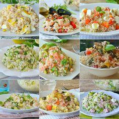 INSALATE DI RISO 10 RICETTE VELOCI primi piatti freddi con il riso Pasta Salad, Cobb Salad, Fried Rice, Risotto, Potato Salad, Buffet, Lunch Box, Cooking, Ethnic Recipes