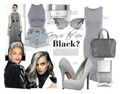 """Grey is the new Black"" by faith-ajayi ❤ liked on Polyvore featuring Call it SPRING, River Island, Valextra, Nails Inc., grunge, followme, follow, grey and CaraDelevingne"