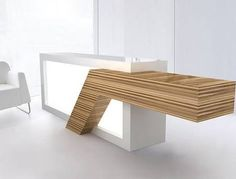 white reception desks - Google Search