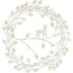 Pier 1 Imports White Deer in Leaves Wall Decor (€27) ❤ liked on Polyvore featuring home, home decor, white, leaf wreath, pier 1 imports, handmade wreaths, leaf home decor and white wreath