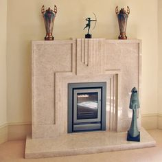 Art Deco Marble Fireplace by Keaton