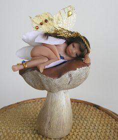 Angel  Fairy Nixie Ooak polymer clay by FantasiaCreations on Etsy, $45.00