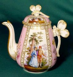 633: 11pc Meissen Tea Set 1889 - NR : Lot 633