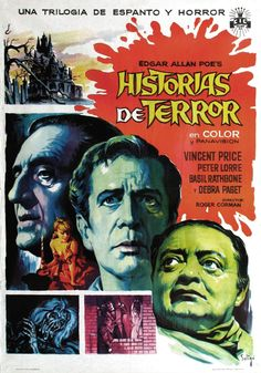The team over at Kino Lorber Studio Classics has a terrific new release set for April . Roger Corman's 1962 film Tales of Terror, starring Vincent Price and Peter Lorre. Horror Tale, Horror Films, Horror Stories, Edgar Allan Poe, Horror Movie Posters, Film Posters, Terror Movies, Kino International, Peter Lorre