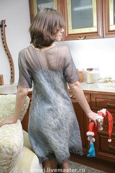 """Купить валяное платье """" Отражение в воде"""" - авторское платье, платье, платье коктейльное"""
